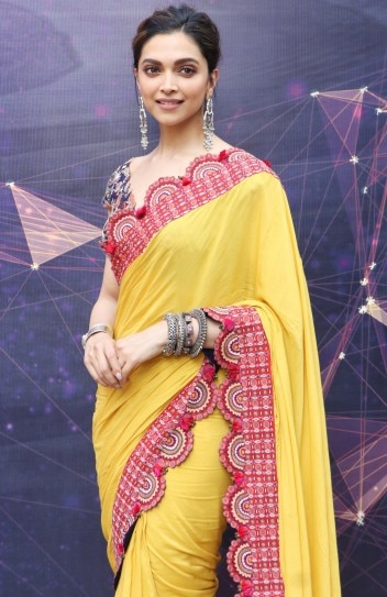 Deepika Padukone in quirky yellow saree adds boho touch to ...