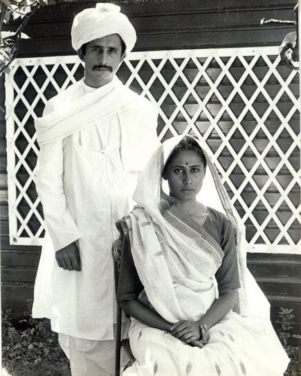 Naseeruddin Shah and Smita Patil during the screen-test for Gandhi