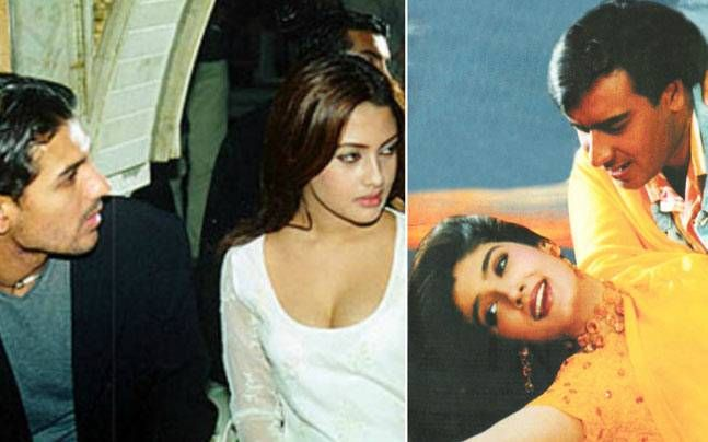 In this blast from the past, we look at almost forgotten couples from Bollywood, be it Ajay Devgn and Raveena Tandon or John Abraham and Riya Sen.