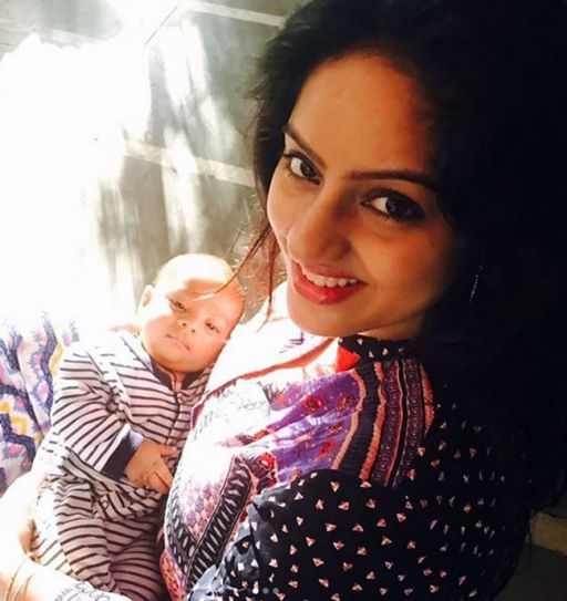 Deepika Singh with her baby
