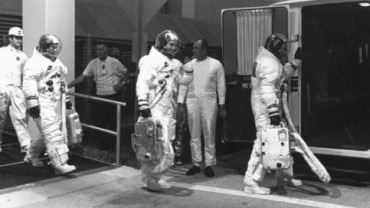 manned moon landings under Nasa's Apollo mission