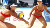 Beach volleyball action at Asiad