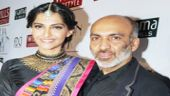 Bollywood fashionista Sonam Kapoor with fashion designer Manish Arora