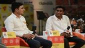 DUSU President Rocky Tuseed and ABVP candidate Pinkesh Meena at India Today Mind Rocks Delhi 2017