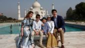 Justin Trudeau visiting the Taj Mahal with his family. Photo: Reuters/Adnan Abidi
