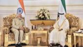 Prime Minister Narendra Modi with Crown Prince HH Mohamed bin Zayed Al Nahyan in Abu Dhabi, UAE.