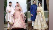 Anushka Sharma and Sagarika Ghatge in Sabyasachi outfits.