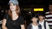 Sussanne Khan with Hrehaan and Hridhaan