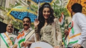 Shruti Haasan and Kamal at the parade