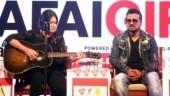 Shahid Mallya and Meghna Mishra at the India Today Safaigiri Summit and Awards 2018