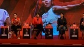 Rani Rampal, Jhulan Goswami and Swapna Barman spoke at East Conclave 2018. (India Today Photo)