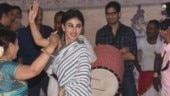 Mouni Roy put on some enviable dance moves at Durga Puja 2018 celebrations