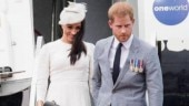 Meghan Markle and Prince Harry arrive in Fiji Photo: Instagram/coutureandroyals
