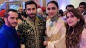 Ranveer Singh and Deepika Padukone at their wedding reception in Bengaluru