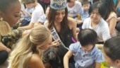 Manushi Chhillar visits an orphanage in China.