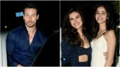Tiger Shroff (L) and Tara Sutaria with Ananya Panday