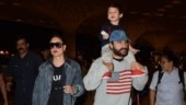 Saif Ali Khan and Kareena Kapoor Khan with Taimur