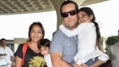 Fardeen Khan with wife Natasha and kids Diani and Azarius