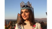 Manushi Chhillar with the Miss World crown.