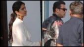 Katrina Kaif and Salman Khan return to Mumbai from Udaipur where they had gone to attend Isha Ambani's sangeet ceremony