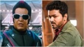 A still from 2.0 (L) and a still from Sarkar