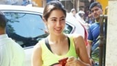 Sara Ali Khan at the gym Photo: Yogen Shah