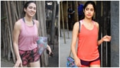 Sara Ali Khan and Janhvi Kapoor at the gym Photo: Yogen Shah