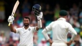 Cheteshwar Pujara brought up his third century of the series to put India in a commanding position at stumps on Day 1 in Sydney (AP Photo)