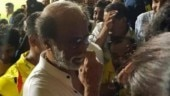 Rajinikanth enjoying CSK Vs RCB match in Chennai