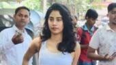 Janhvi Kapoor outside her gym Photo: Yogen Shah