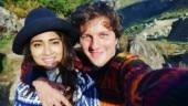 Shriya Saran and Andrei Koscheev in Machu Picchu