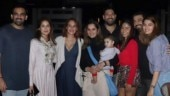 Sania Mirza with son Izhaan, Zaheer Khan, Sagarika Ghatge, Hazel Keech, Yuvraj Singh, Ashish Chowdhry and his wife
