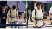 Shah Rukh Khan was spotted arriving in Maldives with his kids, Suhana, Aryan and AbRam.