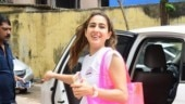 Sara Ali Khan outside gym Photo: Yogen Shah