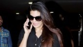 Jacqueline Fernandez at airport Photo: Yogen Shah