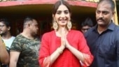Sonam Kapoor at Shani Temple