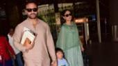 Kareena Kapoor Khan, Saif Ali Khan and Taimur at Mumbai Airport