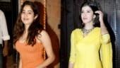Janhvi Kapoor and Shanaya Kapoor at Anil Kapoor Karwa Chauth party.