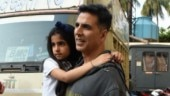 Akshay Kumar with Nitara. photo: Yogen Shah.