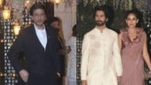 Shah Rukh Khan, Shahid Kapoor and Mira Rajput at Ambani's pre-wedding bash.