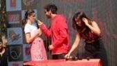 Kartik Aaryan, Ananya Panday and Bhumi Pednekar. Photo: Yogen Shah.