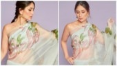 Kareena Kapoor Khan in hand-painted organza saree (Photo: Instagram/nainas89)