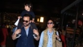 Saif Ali Khan with Kareena Kapoor and Taimur Ali Khan. Photo: Yogen Shah