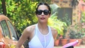 Malaika Arora outside yoga class. Photo: Yogen Shah