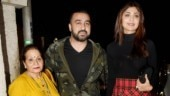 Shilpa Shetty with husband Raj Kundra and mother-in-law Usha Rani Kundra