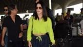 Sunny Leone snapped at Mumbai airport (Photo: Yogen Shah)