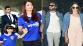 If Aishwarya Rai Bachchan and her daughter Aaradhya were wearing matching jerseys, Ranveer Singh and Deepika Padukone were also twinning at the airport.