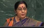Sushma Swaraj at UNGA: We made IITs, IIMs; Pakistan made LeT and Hizbul Mujahideen