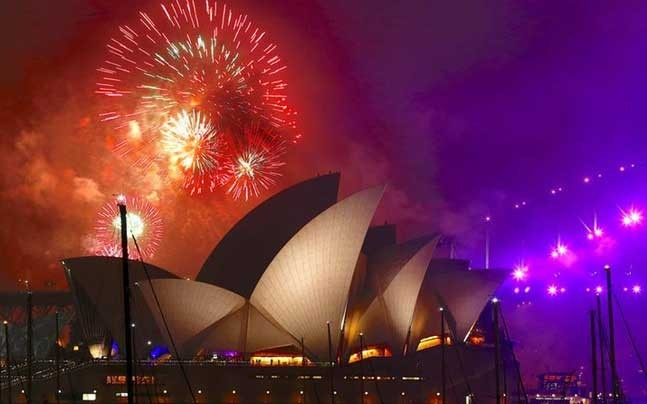 New Year celebrations in Australia (Photo: Reuters)