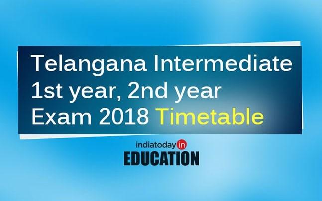 Telangana Intermediate 1st year, 2nd year Exam 2018